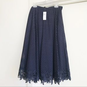 BRAND NEW Ann Taylor Lace Trim Midi Skirt